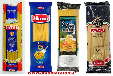انواع ماکارونی رشته ای 1.2 یا اسپاگتی 1.2